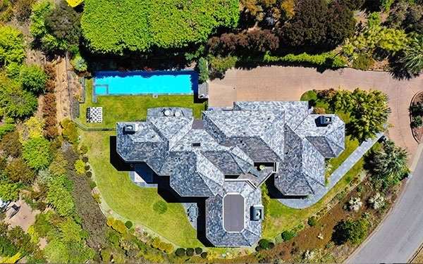 large house top view
